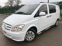 2011 MERCEDES-BENZ VITO 2.1 113 CDI DUALINER 1d 136 BHP 6 SEATER WINDOW VAN NO VAT £8900.00