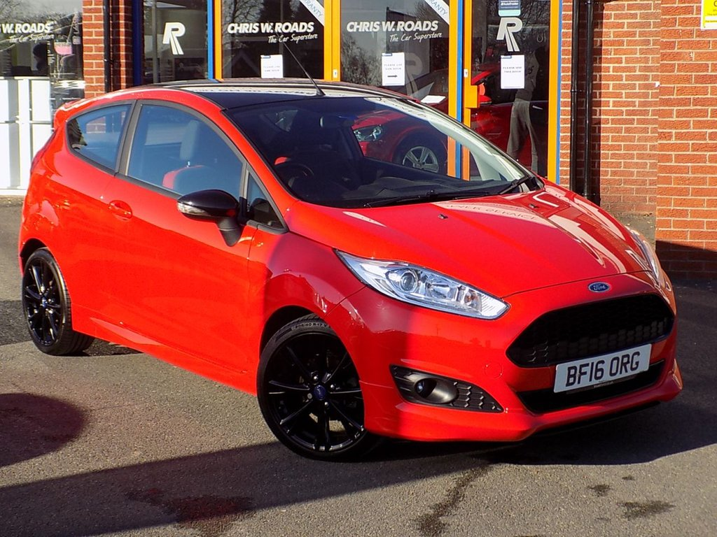 USED 2016 16 FORD FIESTA 1.0 Ecoboost Zetec S Red Edition 3dr (140) ** Bluetooth + DAB + AC **