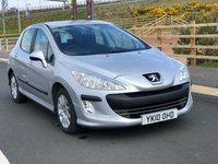 USED 2010 10 PEUGEOT 308 1.6 SR HDI 5d 89 BHP NAVIGATION SYSTEM *  2 PREVIOUS KEEPER *   SERVICE RECORD *  FULL YEAR MOT *  ALLOY WHEELS *