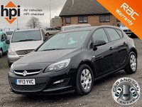 USED 2013 13 VAUXHALL ASTRA 1.3 ES CDTI AC ECOFLEX S/S 5d  AC, ONE OWNER, £20 ROAD TAX, BLUETOOTH, CRUISE, DEALER SERVICE HISTORY