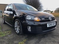 2010 VOLKSWAGEN GOLF 2.0 GTD TDI 5 DOOR 170ps 53000 miles full VW service history  £10295.00