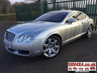 2005 BENTLEY CONTINENTAL 6.0 GT 2d AUTO 550 BHP SAT NAV LEATHER MULLINER SPEC LOW MILEAGE 11 STAMPS FSH £27990.00