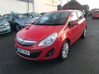 2013 VAUXHALL CORSA 1.4 SE 5d 98 BHP JUST ARRIVED £4999.00