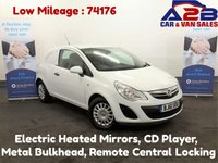 2011 VAUXHALL CORSA 1.3 CDTI ECOFLEX, Low Mileage (74176) Full Service History (7 Stamps) Electric Heated Mirrors, Remote Central Locking, 2 Remote Keys  £2980.00