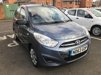 USED 2013 63 HYUNDAI I10 1.2 CLASSIC 5d 85 BHP ONLY 9344 MILES FROM NEW! CHEAP TO RUN ,LOW CO2 EMISSIONS (108G/KM),EXCELLENT FUEL ECONOMY! GOOD SPECIFICATION INCLUDING LOW ROAD TAX, AUXILIARY INPUT, AIR CONDITIONING AND RADIO CD. ONLY 9344 MILES.