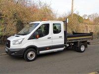 2015 FORD TRANSIT T350 2.2TDCI 124 BHP DOUBLE CAB LWB TIPPER £14950.00