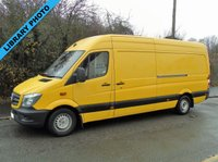 2013 MERCEDES-BENZ SPRINTER 313 2.1CDI 129 BHP LWB HIGH ROOF PANEL VAN £7495.00
