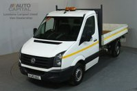 USED 2015 15 VOLKSWAGEN CRAFTER 2.0 CR35 TDI 109 BHP MWB S/CAB RWD TIPPER REAR BED LENGTH 11 FOOT & 4 IN