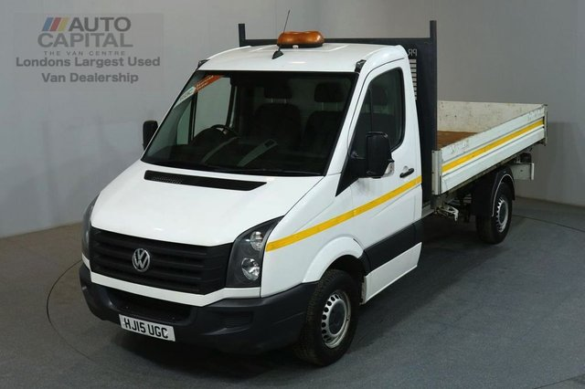 2015 15 VOLKSWAGEN CRAFTER 2.0 CR35 TDI 109 BHP MWB S/CAB RWD TIPPER REAR BED LENGTH 11 FOOT & 4 IN