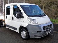 USED 2009 59 FIAT DUCATO 2.3 35 120 BHP DOUBLE CAB LWB CAGED TIPPER +1 OWNER+ CAGED SIDES+ONLY 66K