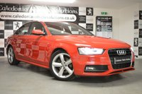 USED 2013 62 AUDI A4 2.0 TDI S LINE 4d 141 BHP ONE FORMER KEEPER with FULL SERVICE HISTORY, LOW MILEAGE & A JAN 2020 MOT