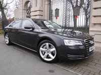 USED 2014 14 AUDI A8 4.2 L TDI QUATTRO SE EXECUTIVE 4d AUTO 350 BHP LWB FINANCE ARRANGED***PART EXCHANGE WELCOME***2 OWNERS FROM NEW***AUDI SERVICE HISTORY***BLUETOOTH PHONE***DAB RADIO***BOSE SOUND SYSTEM***TV RECEPTION