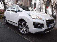 USED 2015 65 PEUGEOT 3008 1.6 BLUE HDI S/S ALLURE 5d AUTO 120 BHP *** FINANCE & PART EXCHANGE WELCOME *** 1 OWNER £ 30 ROAD TAX SAT/NAV PANORAMIC ROOF REVERSE CAMERA BLUETOOTH PHONE  HEADS UP DISPLAY