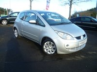 USED 2008 58 MITSUBISHI COLT 1.3 CZ2 3d 95 BHP FULL SERVICE HISTORY, AIR CONDITIONING, RADIO CD, ELECTRIC WINDOWS