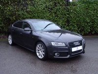"USED 2011 61 AUDI A5 2.0 SPORTBACK TDI S LINE 5d AUTO 141 BHP Full Service History, Full Audi S-Line Leather Trim, Heated Front Seats, Sat Nav, Bluetooth, Front + Rear Parking Sensors, 18"" Alloy Wheels, Privacy Glass, Electric Seats, Electric Folding Mirrors, Finished In Grey Metallic Paintwork, Front + Fog Lights, Auto Lights, Air Conditioning, Spare Key, Drive Away In Under 1 Hour"