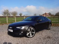 USED 2014 14 AUDI A5 2.0 TDI QUATTRO S LINE BLACK EDITION 2d 175 BHP ONLY 1 OWNER FROM NEW + QUATTRO 4WD