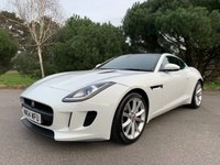 USED 2014 64 JAGUAR F-TYPE 3.0 V6 2d AUTO  STUNNING IN WHITE WITH BLACK SPORTS INTERIOR 1 OWNER FULL BLACK SERVICE HISTORY