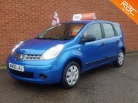 2008 NISSAN NOTE 1.4 ** RAC PARTS & LABOUR WARRANTY ** £2495.00