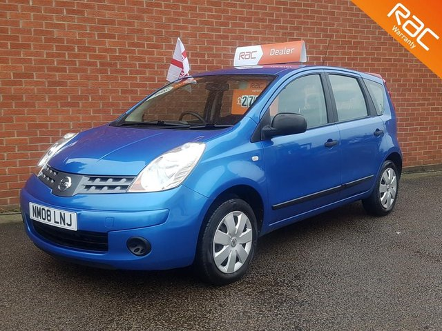 2008 08 NISSAN NOTE 1.4 ** RAC PARTS & LABOUR WARRANTY **