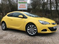 USED 2012 12 VAUXHALL ASTRA GTC 1.4 GTC SRI S/S 3dr Half Leather, Cruise