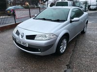 USED 2006 56 RENAULT MEGANE 1.5 DYNAMIQUE DCI 2d 106 BHP MOT TILL DECEMBER 2019-CONVERTIBLE-DIESEL-DRIVES WELL