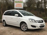 USED 2012 62 VAUXHALL ZAFIRA 1.6 DESIGN 5dr Parking Sensors, Low Mileage