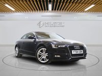 USED 2014 64 AUDI A5 2.0 TDI S LINE S/S 2d 177 BHP +  SAT NAV + AIR CON + LEATHER SEAT