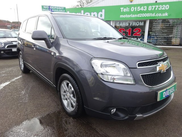 USED 2014 63 CHEVROLET ORLANDO 2.0 LT VCDI 5d 128 BHP £0 DEPOSIT FINANCE AVAILABLE....CALL TODAY ON 01543 877320