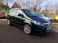 USED 2013 63 VAUXHALL ZAFIRA 1.6 DESIGN NAV 5d WITH SAT NAV AND HEATED FRONT SEATS NO DEPOSIT  PCP/HP FINANCE ARRANGED, APPLY HERE NOW