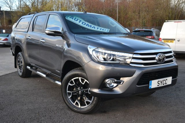 USED 2017 67 TOYOTA HI-LUX 2.4 INVINCIBLE X 4WD D-4D DCB 5d AUTO 148 BHP ~ COLOUR CODED CANOPY  COLOUR CODED CANOPY WITH WINDOWS ~ HEATED LEATHER ~ SAT NAV ~ REVERSE CAMERA