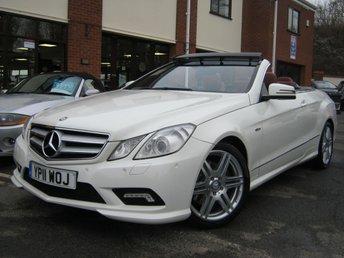 2011 MERCEDES-BENZ E CLASS 3.0 E350 CDI BLUEEFFICIENCY SPORT 2d AUTO 231 BHP £13995.00