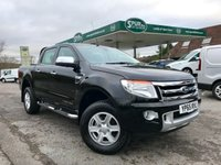 USED 2015 65 FORD RANGER 2.2 LIMITED 4X4 DCB TDCI 1d AUTO 148 BHP Automatic, Full Leather, Only 32,000 Miles, Finance Arranged.