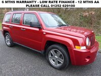 USED 2008 58 JEEP PATRIOT 2.4 SPORT 5d 168 BHP All retail cars sold are fully prepared and include - Oil & filter service, 6 months warranty, minimum 6 months Mot, 12 months AA breakdown cover, HPI vehicle check assuring you that your new vehicle will have no registered accident claims reported, or any outstanding finance, Government VOSA Mot mileage check.     Because we are an AA approved dealer, all our vehicles come with free AA breakdown cover and a free AA history check. Low rate finance available. Up to 3 years warranty available.