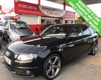 USED 2012 61 AUDI A4 2.0 AVANT TDI QUATTRO S LINE BLACK EDITION 168 BHP ESTATE