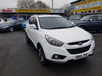 USED 2015 15 HYUNDAI IX35 2.0 CRDI SE 5 DOOR AUTOMATIC 134 BHP IN WHITE WITH ONLY 29600 MILES IN IMMACULATE CONDITION. APPROVED CARS ARE PLEASED TO OFFER THIS HYUNDAI IX35 2.0 CRDI SE 5 DOOR AUTOMATIC 134 BHP IN WHITE WITH ONLY 29600 MILES IN IMMACULATE CONDITION INSIDE AND OUT WITH A GREAT SPEC INCLUDING A FULLY AUTOMATIC GEARBOX,ALLOYS,HEATED SEATS,PRIVACY GLASS,HALF LEATHER SEATS,CRUISE CONTROL,AIR CON,REAR SENSORS AND MUCH MORE WITH A FULL SERVICE HISTORY A STUNNING CAR IN WHITE AN IDEAL 4X4 FOR THE WINTER.
