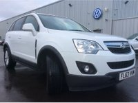 USED 2013 63 VAUXHALL ANTARA 2.2 EXCLUSIV CDTI S/S 5d 161 BHP 4X4 IN WHITE WITH ONLY 65000 MILES IN IMMACULATE CONDITION. APPROVED CARS ARE PLEASED TO OFFER THIS VAUXHALL ANTARA 2.2 EXCLUSIV CDTI S/S 5 DOOR 161 BHP 4X4 IN WHITE WITH ONLY 65000 MILES AND A FULL SERVICE HISTORY AND A GREAT SPEC INCLUDING HALF LEATHER HEATED SEATS,6 SPEED GEARBOX,AIR CON,ALLOYS,BLUETOOTH,CRUISE CONTROL,FRONT AND REAR PARKING SENSORS,PRIVACY GLASS AND MUCH MORE AN IDEAL WINTER 4X4 AT A VERY SENSIBLE PRICE.