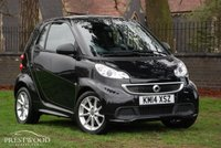 USED 2014 14 SMART FORTWO 1.0 PASSION MHD SOFTOUCH AUTO (71 BHP) SAT NAV
