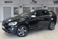 USED 2015 65 VOLVO XC60 2.0 D4 R-DESIGN NAV 5d 188 BHP service history HALF LEATHER SEATS + EXCELLENT SERVICE HISTORY + SATELLITE NAVIGATION + £30 ROAD TAX + BLUETOOTH + DAB RADIO + LED DAYTIME LIGHTS + 18 INCH ALLOYS + AIR CONDITIONING