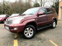 2004 TOYOTA LAND CRUISER 3.0 LC3 8-SEATS D-4D 5d AUTO, CAM BELT / WATER PUMP CHANGED,  £5990.00
