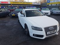 2011 AUDI A5 4.2 S5 FSI QUATTRO 2 DOOR COUPE AUTO 354 BHP IN  WHITE WITH 66000 MILES IN IMMACULATE CONDITION.  £14499.00