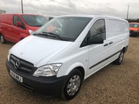 USED 2014 14 MERCEDES-BENZ VITO 2.1 113 CDI 1d 136 BHP AIR CONDITIONING, TAIL GATE, TWIN SIDE DOORS, 80,000 MILES