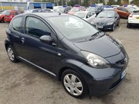 USED 2006 56 TOYOTA AYGO 1.0 VVT-I PLUS 3d 67 BHP IN METALLIC GREY WITH 89000 MILES AND AN MOY UNTIL MAY 19 (TRADE CLEARANCE) APPROVED CARS ARE PLEASED TO OFFER THIS TOYOTA AYGO 1.0 VVT-I PLUS 3d 67 BHP IN METALLIC GREY WITH 89000 MILES AND AN MOT UNTIL MAY 2019,THE CAR DRIVES WELL BUT DUE TO ITS AGE AND MILEAGE IS BEING OFFERED AS A TRADE CLEARANCE CAR WITH MOT.(new clutch being fitted today 14/01/19).