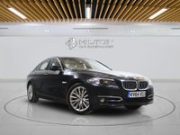 USED 2014 64 BMW 5 SERIES 3.0 530D LUXURY 4d AUTO 255 BHP +  SAT NAV + AIR CON + LEATHER SEATS + BLUETOOTH