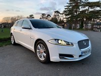 USED 2014 64 JAGUAR XF 2.2 D LUXURY SPORTBRAKE 5d AUTO 163 BHP ONE OWNER WHITE XF ESTATE WITH 37000 FSH