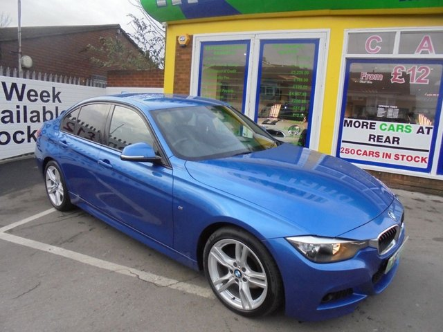 USED 2014 14 BMW 3 SERIES 2.0 320D M SPORT 4d AUTO 181 BHP FULL BLACK LEATHER SAT NAV AUTOMATIC