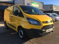 USED 2014 64 FORD TRANSIT CUSTOM 2.2 310 LR P/V 1d 124 BHP FSH, A/C, BLUETOOTH, TAILGATE, 6 MONTHS WARRANTY & FINANCE ARRANGED. FSH, A/C, heated seats, heated screen, Bluetooth, E/W, Radio, Drivers airbag, Factory fitted bulk head, side loading door, ply lined, Very Good Condition, 1 Owner, remote Central Locking, Drivers Airbag, Steering Column Radio Control, tailgate, spare key, finance arranged on site & 6 months premium Autoguard warranty