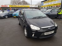 2010 FORD C-MAX 1.6 ZETEC 5 DOOR 100 BHP IN BLACK WITH ONLY 88000 MILES IN GREAT CONDITION. £3999.00