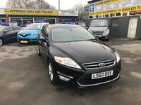 2010 FORD MONDEO 2.0 TITANIUM TDCI 5d 138 BHP IN BLACK WITH 88000 MILES AND A GOOD SERVICE HISTORY. £4499.00