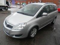 USED 2010 60 VAUXHALL ZAFIRA 1.9 EXCLUSIV CDTI 5d AUTO 118 BHP