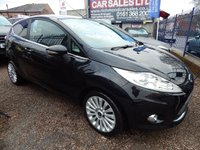 USED 2009 59 FORD FIESTA 1.4 TITANIUM 3d AUTO 96 BHP 2 OWNERS FROM NEW,  LOW MILEAGE, AIR CONDITIONING, ALLOY WHEELS